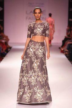 Metallic grey Indian wedding lehenga by Payal Singhal - reception inspiration