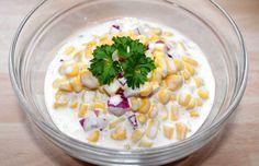 Majonézes kukoricasaláta recept Salad Recipes, Grains, Salads, Rice, Vegetables, Kitchen, Starters, Foodies, Diet