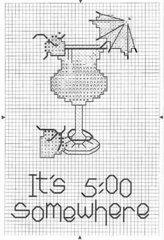 Cocktails cross stitch