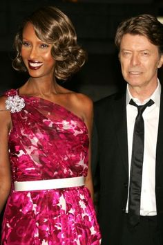 David Bowie and his supermodel wife Iman exchanged vows on April 24, 1992.  They met on a blind date in 1990, and they can thank their hairdresser for setting up that momentous occasion.  Their daughter, Alexandria, is 10 years old
