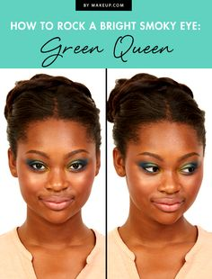 Time to put away our brown eye shadow palette and try out a smoky eye that's really going to make our eyes pop! This green queen eye shadow tutorial will bring out your eyes in all the right ways. Here's how to get the look!
