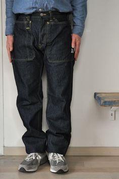 Raw Denim, Denim Jeans, Work Fashion, Men's Fashion, Estilo Denim, Japanese Denim, Fashion Branding, Work Pants, Vintage Denim