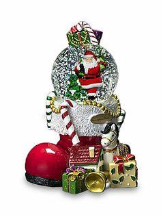 Christopher Radko Santa's Boot-Full of Bounty Snow Globe