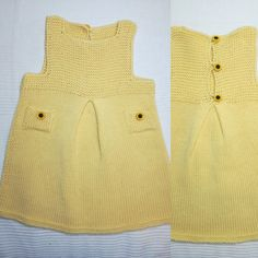 Knitted baby dress Knitted Baby, Baby Knitting, Knit Baby Dress, Summer Dresses, Fashion, Moda, Summer Sundresses, Fashion Styles, Baby Knits