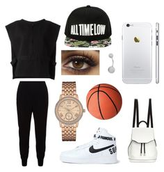 """""""basketball practice"""" by wma0411 ❤ liked on Polyvore featuring STELLA McCARTNEY, adidas Originals, GUESS, NIKE and rag & bone"""