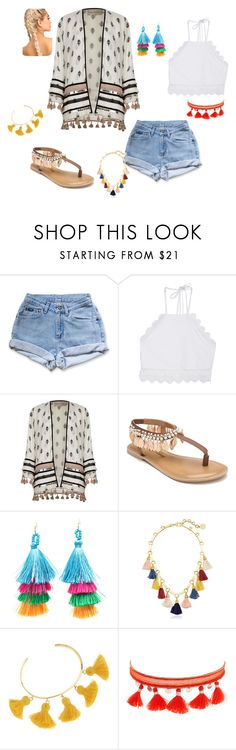 """""""How to wear the bahamas"""" by lsmith22-1 on Polyvore featuring Levi's, Front Row Shop, River Island, Penny Loves Kenny, Ben-Amun, Marte Frisnes and Chan Luu"""