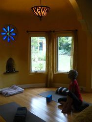 Pittas can often experience light sensitivity, so a yoga space with soft, diffused light is fantastic.