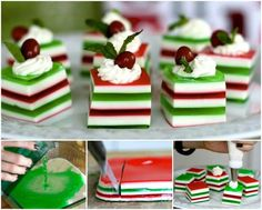 Creative Ideas - DIY Holly Jolly Jelly Shots