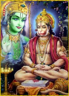"""☀ SHRI HANUMAN ॐ ☀  """"Only in pure consciousness, Krishna consciousness, can one perceive the transcendental form of the Lord. Let us be firmly fixed at the lotus feet of Lord Ramachandra, and let us offer our respectful obeisances unto those transcendental lotus feet.""""~Srimad Bhagavatam 5.19.4"""