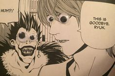 This would make everything 10 times better Death Note Funny, Death Note Light, Potato Chip, Shinigami, Googly Eyes, Stay Calm, Spam, Sasuke, Manga Anime