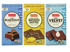 Alter Eco Organically Grown Fair Trade Chocolate Bars 3 Flavor Variety Bundle: (1) Alter Eco Dark Blackout, (1) Alter Eco Dark Salted Brown Butter, and (1) Alter Eco Dark Velvet, 2.82 Oz. Ea. Alter Eco
