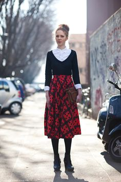 black, white and prints - Carolines Mode | StockholmStreetStyle
