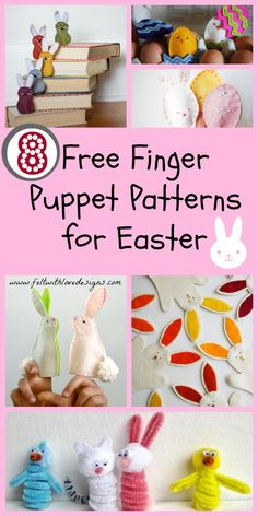 Links With Love: 8 Free Easter (or Spring) Finger Puppet Patterns {Felt With Love Designs}