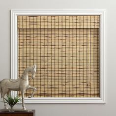 Rustique Bamboo 54-inch Long Roman Shade - Overstock™