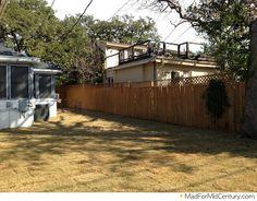 Done: Put in New Backyard Grass Mid Century Modern Landscaping, No Grass Backyard, Mid Century Art, Mid-century Modern, Shed, Outdoor Structures, Landscape, Outdoor Decor, Design