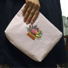 Flower pouch embroidery