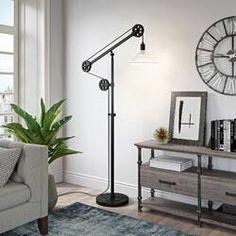 "Williston Forge Carlisle 70"" Reading Floor Lamp & Reviews   Wayfair Swing Arm Floor Lamp, Led Floor Lamp, Bronze Floor Lamp, Unique Lamps, Floor Finishes, Carlisle, Bronze Finish, Desk Lamp, Room Lamp"