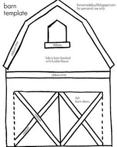 barn template for quiet book, now for the animals