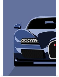 Bugatti Veyron pop art! Cool? We think so too. Click for more.
