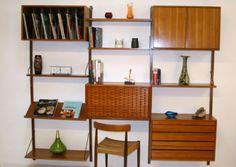 Cado-Shelving-Storage-Systems-Poul-Cadovious-Circa-1960-Denmark-Teak-Wood-Mint Storage Shelves, Shelving, Retro Sideboard, Danish Royals, How To Plan, Living Room, Cambridge, Oxford, London