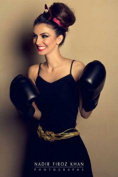 { Pakistan Fashion Photo Shoot } Gorgeous Faryal Makhdoom's Photo Shoot for Hello Magazine by LABELS - Boxing Girl, Women Boxing, Boxing Boxing, Faryal Makhdoom, Hello Magazine, Female Boxers, Daily Hairstyles, Pakistan Fashion, Pakistani Actress