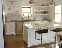 1920's kitchen revival. custom inset shaker doors with exposed