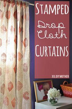 DIY Drop Cloth Curtains   http://www.pinkwhen.com/