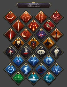Mobile RPG UI & Skill Icon on Behance