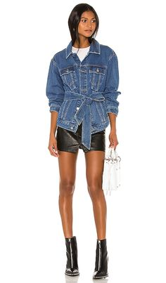 Shop for C/MEO Out Of Sight Jacket in Blue Denim at REVOLVE. Free day shipping and returns, 30 day price match guarantee. Casual Night Out, What's In Your Bag, Hollywood Celebrities, Looking For Women, Blue Denim, Curvy, Chic, Model, Jackets