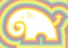 Stripy Elephant - start with animal stencil first.  Fine motor skill and patience practise!