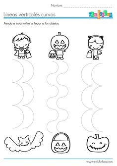 Crafts,Actvities and Worksheets for Preschool,Toddler and Kindergarten.Lots of worksheets and coloring pages. Preschool Lesson Plan Template, Preschool Worksheets, Theme Halloween, Halloween Crafts For Kids, Kids Crafts, Art Crafts, Halloween Worksheets, Bricolage Halloween, Fall Preschool