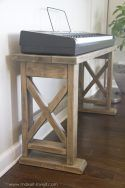DIY Digital Piano Stand and Bench (...a $25 project!!)   via makeit-loveit.com 2x4 Furniture, Diy Furniture Plans Wood Projects, Small Furniture, Woodworking Projects Diy, Farmhouse Furniture, Woodworking Furniture, Furniture Making, Furniture Design, Woodworking Tools