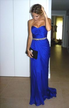 Cobalt blue bridesmaid dress - My wedding ideas