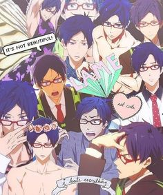 I adore this anime and Rei was my favorite character, in the end. This so accurately sums up his character. Rei Ryugazaki, Otaku, Swimming Anime, Splash Free, Free Iwatobi Swim Club, Kyoto Animation, Free Anime, Hot Anime Guys, Anime Life
