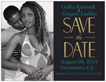 Magnetic Save the date from Vistaprint with Malachite blue text. Easy and so far the cheapest <3