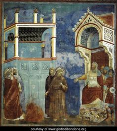 Legend of St Francis- 11. St Francis before the Sultan (Trial by Fire) 1297-1300 - Giotto Di Bondone - www.giottodibondone.org