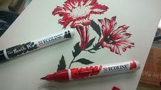 ECOLINE BRUSH PEN  Novità 2016 Disponibile a Colour Academy Belle Arti - Bari #talensecoline #ecolinebrushpen #brushpen #marker #sketching #brush #watercolor #ink #drawing #fineart #art #bari