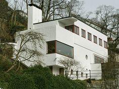 Funksjonalistisk villa 1934, Bergen. Arkitekt Leif Grung Foto: Frode Inge Helland