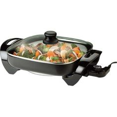 Brentwood Appliances 12-inch Electric Skillet, Silver