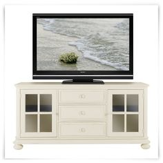 "City Furniture: Placid Cove White 69"" TV Stand"