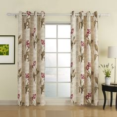 IYUEGO Flower Letter Print Grommet Top Lining Blackout Curtains Draperies With Multi Size Custom 100 W x 84 L One Panel *** Click image for more details. Bedroom Curtains With Blinds, Cheap Curtains, Floral Curtains, Curtains For Sale, Lined Curtains, Blackout Curtains, Unique Ceiling Fans, Kitchen Window Treatments, Flower Letters