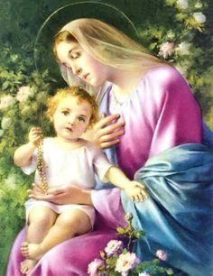Jesús y la Virgen Maria
