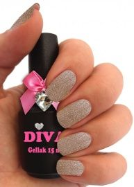 Diva Gellak Gold Couture 15 ml Diva, Polish, Couture, Nails, Gold, Beauty, Haute Couture, Beleza, Vitreous Enamel