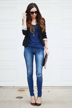 simple stylish spring look
