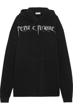 Balenciaga - Femme Fatale Oversized Embroidered Stretch-jersey Hooded Top - Black - x small