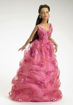 doll in a pink dress