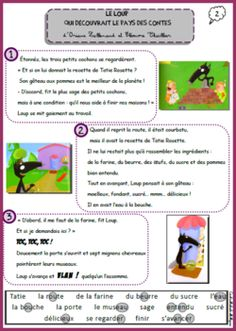 Le loup au pays des contes Reading Activities, Activities For Kids, French Classroom, French Resources, French Immersion, Classroom Language, Reading Material, French Language, Literacy