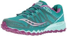 Saucony Womens Peregrine 7 Trail Runner TealPurpleCitron 95 M US * Details can be found by clicking on the image-affiliate link.