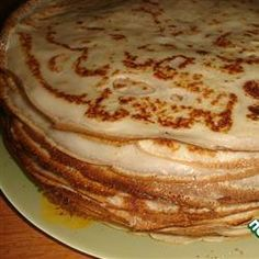 Blini! I like to use this with a sweet banana filling, as a crepe. Staple Russian recipe, and versatile to boot