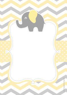 Uau! Veja o que temos para Convite Elefantinho Amarelo e Cinza Chevron 4 Baby Mini Album, Baby Scrapbook, Baby Shower Parties, Baby Shower Yellow, Baby Boy Shower, Babyshower, Chevron, Elephant Birthday, Baby Frame